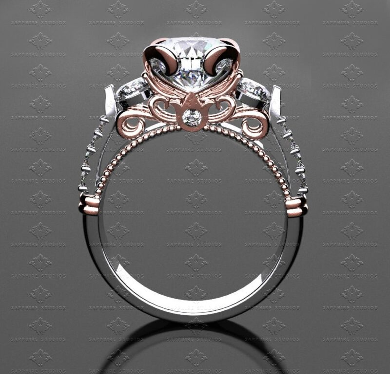 Premier-290-White-Diamonds-Rose-Gold Engagement-Ring -Le-Tresor-Collection