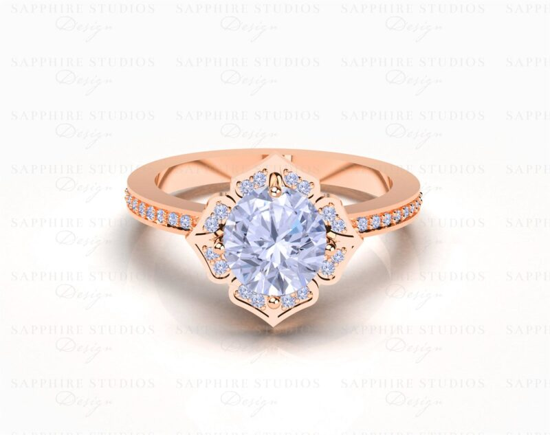 calliste-041-rose-gold-flower-engagement-ring