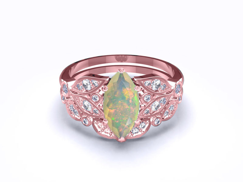 serenity-marquise-opal-rose-gold-bridal-set