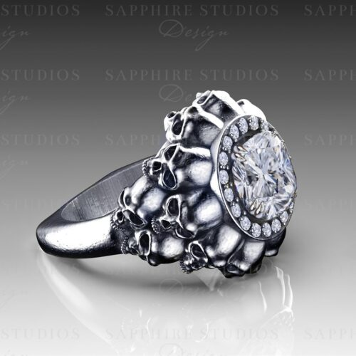 empress-white-gold-skull-engagement-ring